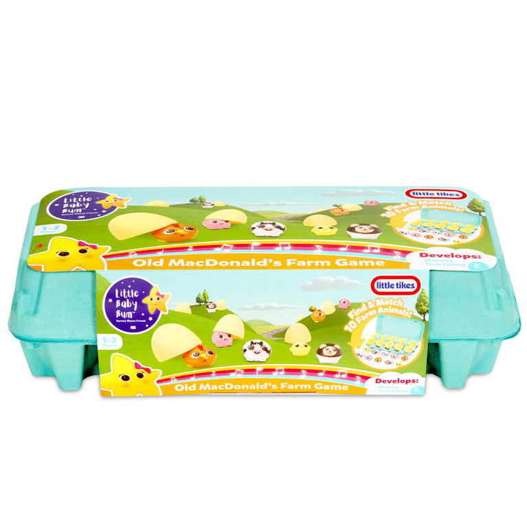 Little Baby Bum Old MacDonald's Farm Game with Reusable Carton for Easy Clean-Up and Storage