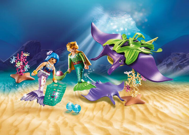 Playmobil  Pearl Collectors With Manta Ray 70099