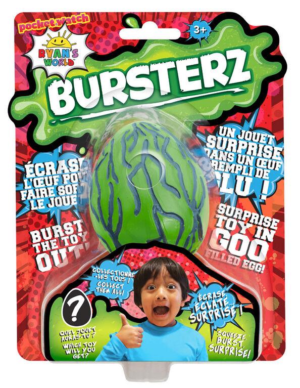 Ryan's World Bursters Oeuf Rempli de Glu - vert