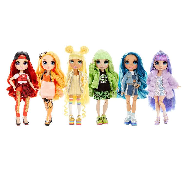 Rainbow High Skyler Bradshaw : poupée-mannequin bleue avec 2 tenues