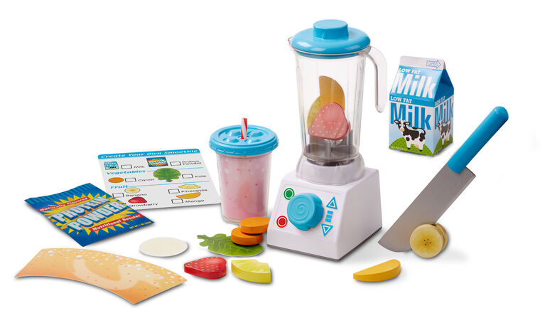 Melissa & Doug Smoothie Maker Blender Set with Play Food (24 Pcs)