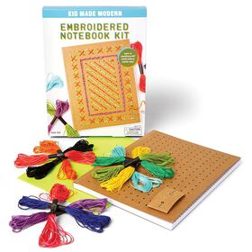 Kid Made Modern - Embroidered Notebook Kit