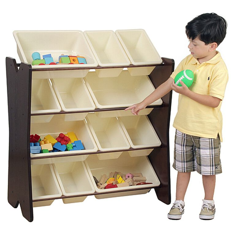 Imaginarium Storage Bin Rack with 12 Bins Espresso