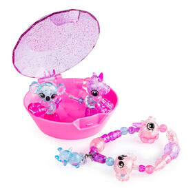 Twisty Petz, Series 3 Babies 4-Pack, Unicorns and Koalas Collectible Bracelet Set and Case