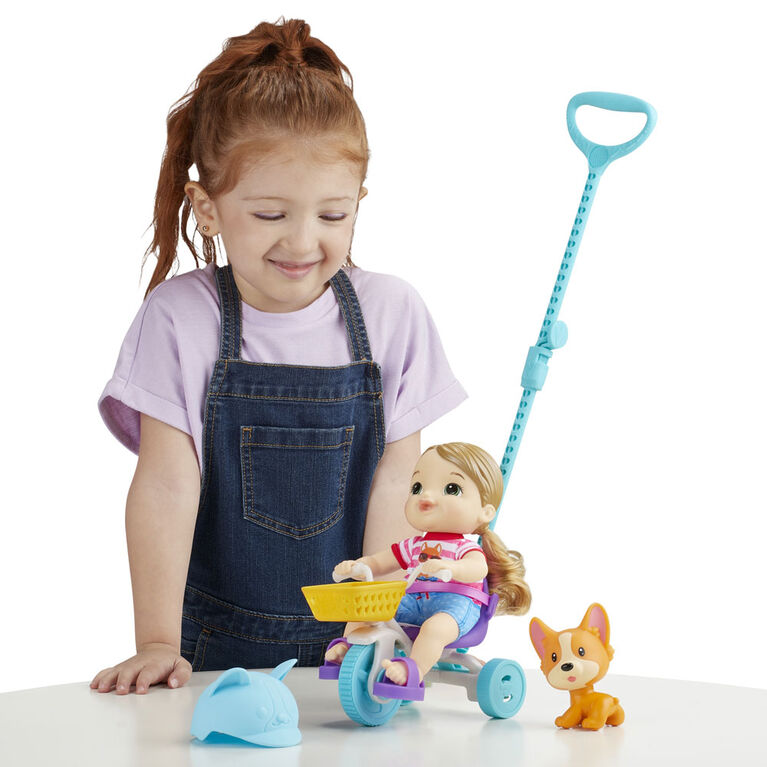 Littles by Baby Alive, Roll 'n Pedal Trike, Little Jade Doll