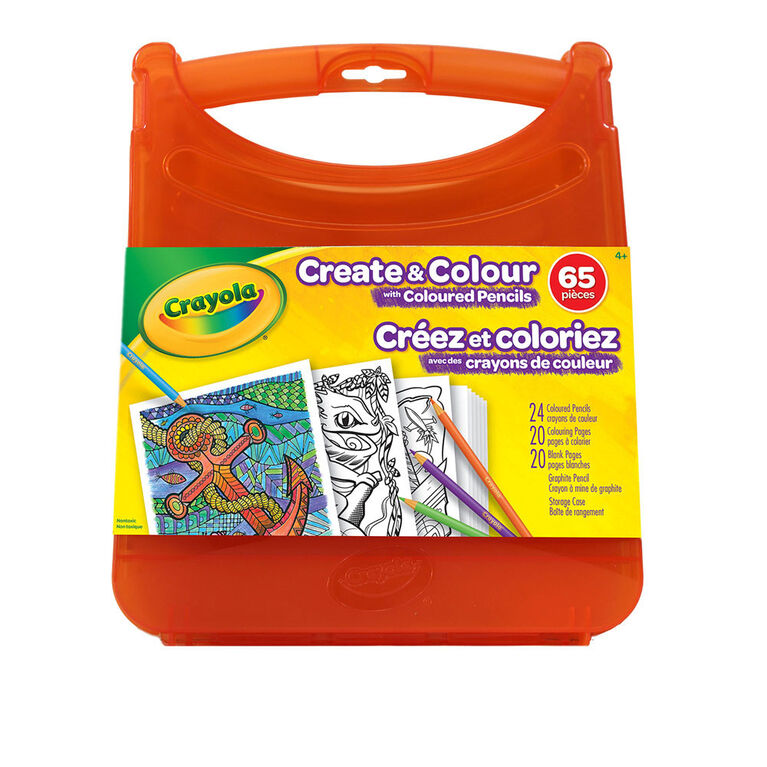Crayola Create & Colour Coloured Pencils Kit