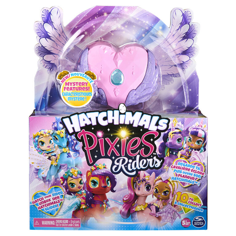 Hatchimals Pixies Riders, Magical Madison Pixie and Butterpuff Glider Hatchimal Set with Mystery Feature