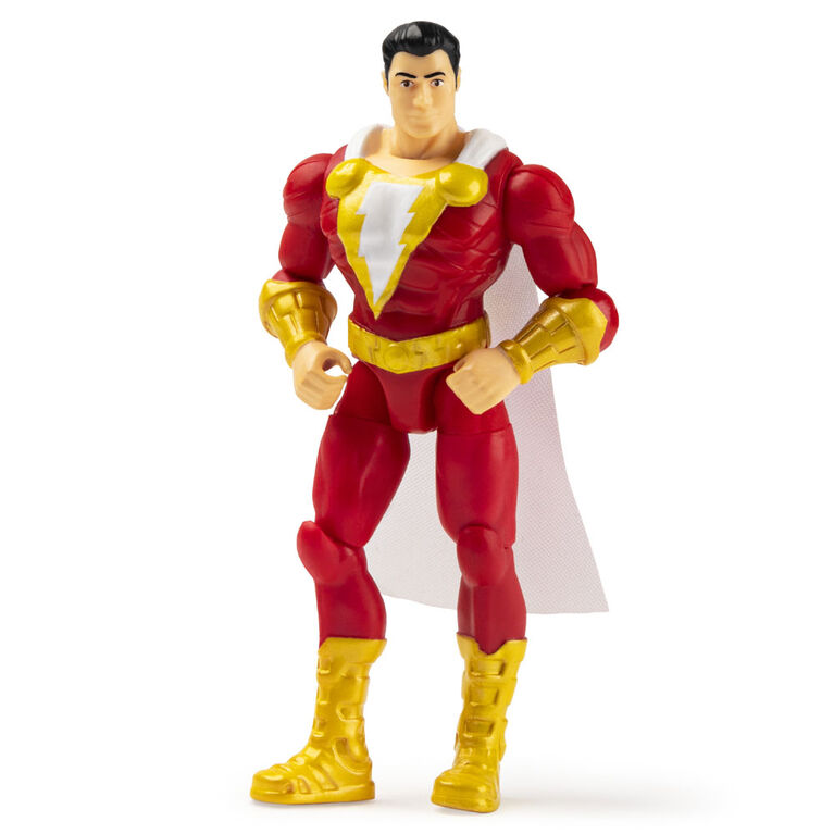 DC Comics, 4-Inch SHAZAM! Action Figure with 3 Mystery Accessories, Adventure 2
