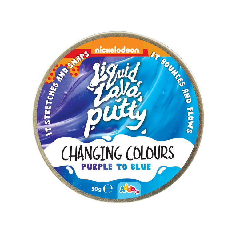 Nickelodeon Liquid Lava Putty Changing Colour Purple to Blue