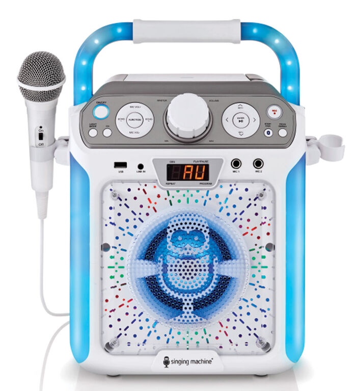 The Singing Machine - Groove Cube Karaoke System - White