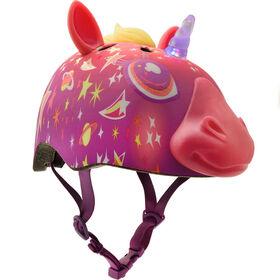 Raskullz - Child Super Lazer LED Multisport Helmet - Pink (Fits head sizes 50 - 54 cm)