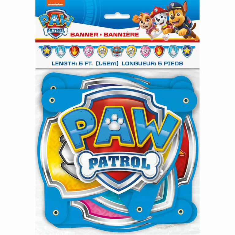 Paw Patrol Large Jointed Banner - English Edition