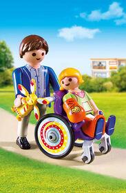Playmobil - Enfant et fauteuil roulant