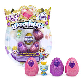 Hatchimals CollEGGtibles, Royal Multipack with 4 Hatchimals and Accessories, (Styles May Vary)