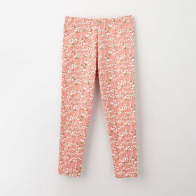 organic play legging, 18-24m - light rose print