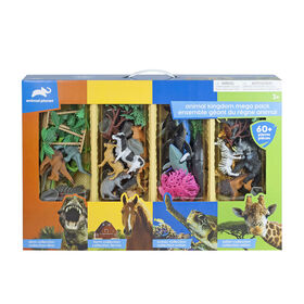 Animal Planet - Animal Kingdom Mega Pack Playset - 60 Pieces - R Exclusive