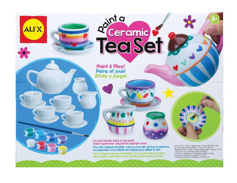 Service à thé à peindre Paint A Ceramic Tea Set.