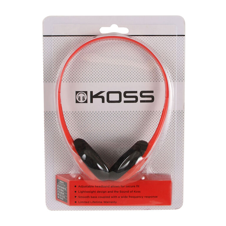 Koss Casque KPH7 Portable sur l'oreille rouge