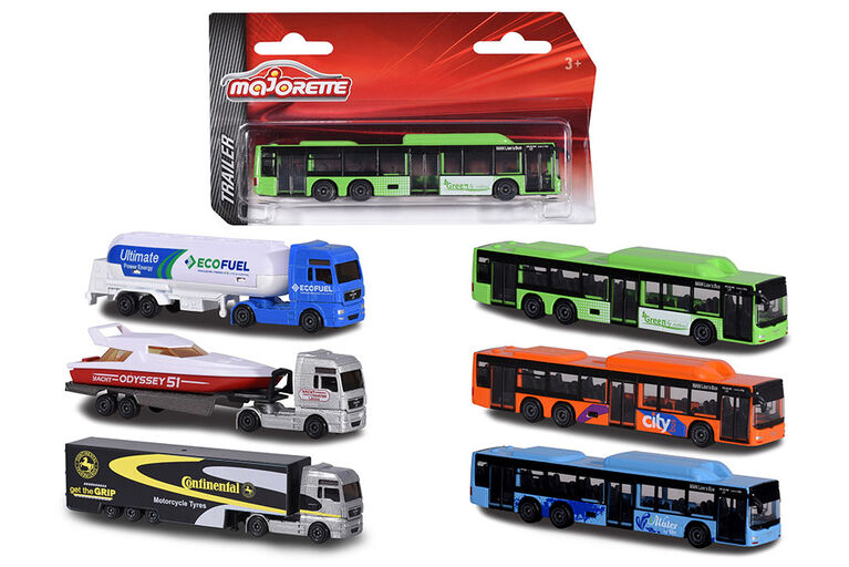 Majorette - Trailer - Man Tgx Xxl/Speed Boat - Colours and styles may vary. Style selected at purchase