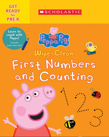 Scholastic - Peppa Pig: Wipe-Clean First Numbers and Counting - Édition anglaise