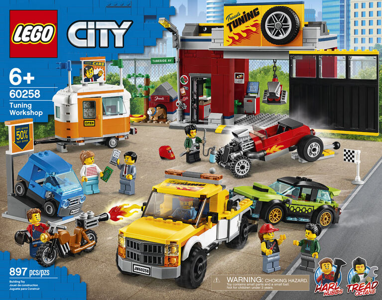 LEGO City Nitro Wheels L'atelier de Tuning 60258