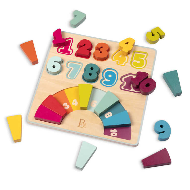 B. Wooden Number Puzzle