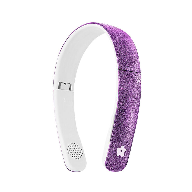 """Casque d""""écoute Bluetooth sans fil bombe de scintillement - violet"""