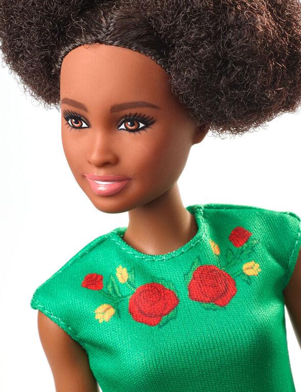 Barbie Travel Nikki Doll - Green Dress