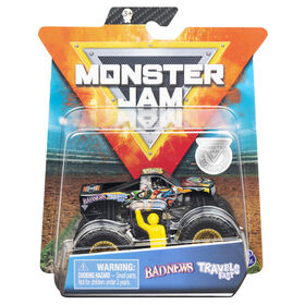 Monster Jam, Official Bad News Travels Fast Monster Truck, Die-Cast Vehicle, Arena Favorites Series, 1:64 Scale