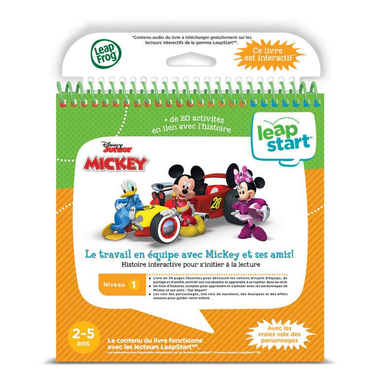 LeapFrog LeapStart Livre éducatif (Niveau 1) Le travail en équipe avec Mickey et ses amis! -  Édition française