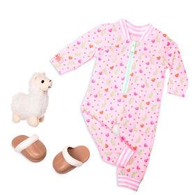 Llama Llullabies, Our Generation, Pyjama pour poupées de 18po