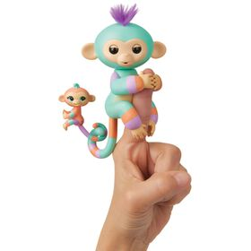 Fingerlings Baby Monkey & Mini BFFs - Danny & Gianna (Turquoise-Orange)