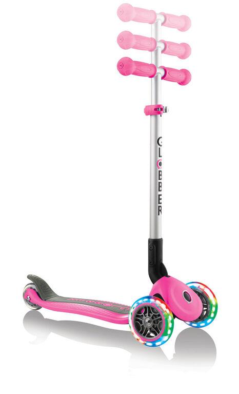 Primo Pliable Scooter avec Lumière - Rose