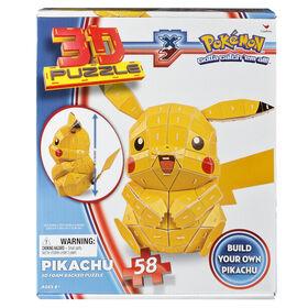3D Puzzle, Pokemon Pikachu, 3D Foam Back 58 Piece Puzzle