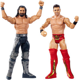 WWE - WrestleMania - Coffret de 2 figurines - Seth Rollins vs The Miz - Édition anglaise.