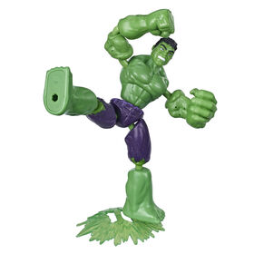Marvel Avengers Bend And Flex Action Figure Toy, 6-Inch Flexible Hulk Figure, Includes Blast Accessory