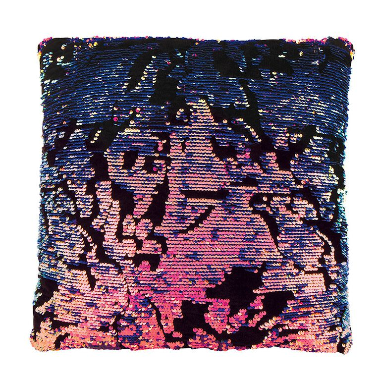 Style Lab Magic Sequin Pillow Scattered Purple Sequin/Velvet