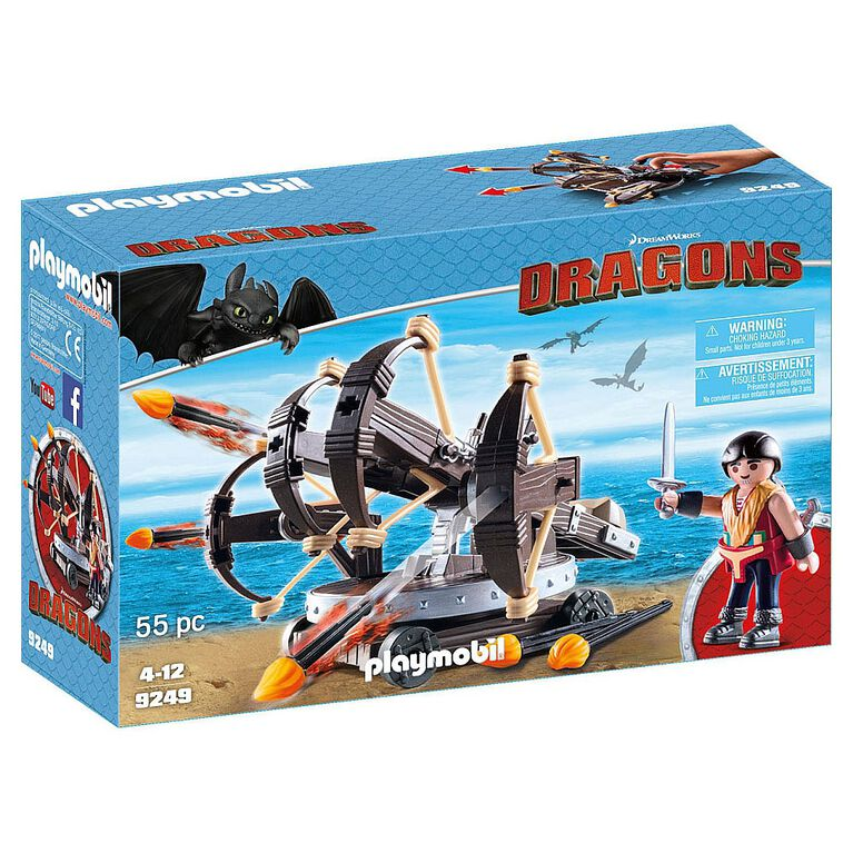 Playmobil - How To Train Your Dragon - Eret with 4 Shot Fire Ballista