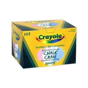 Crayola Dustless Coloured Chalk, 144 ct
