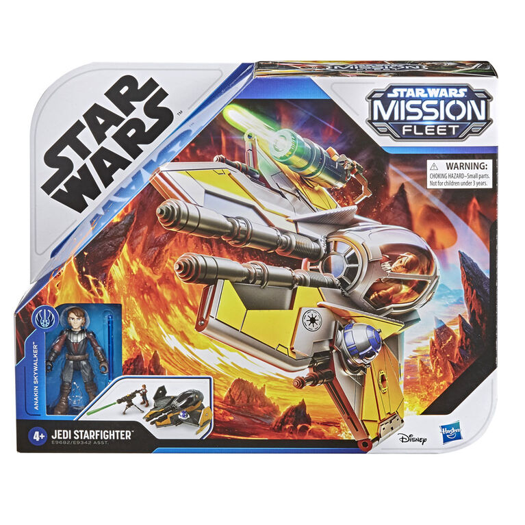 Toys for Children Aged 4 and Up Star Wars Mission Fleet Stellar Class Anakin Skywalker Jedi Starfighter 6 cm-Scale Figure and Vehicle