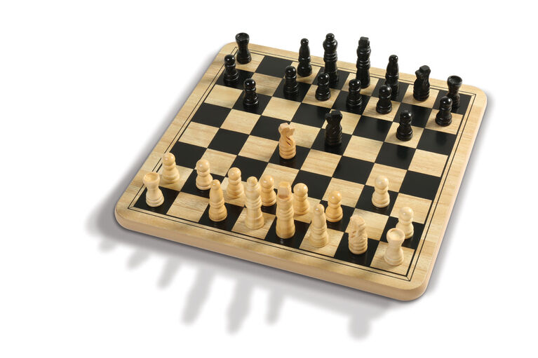 Pavilion Classic Games - Wood Chess & Checkers