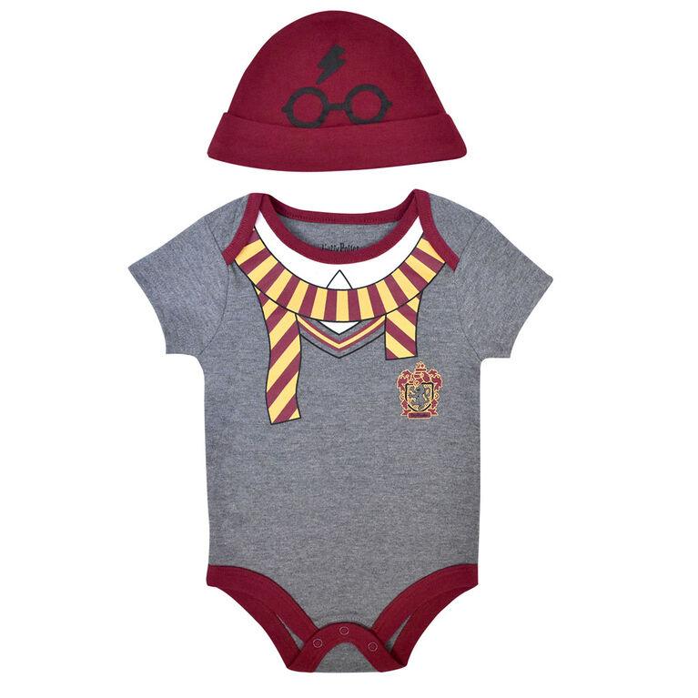 Warner's Harry Potter Bodysuit with hat - Grey, 18 Months