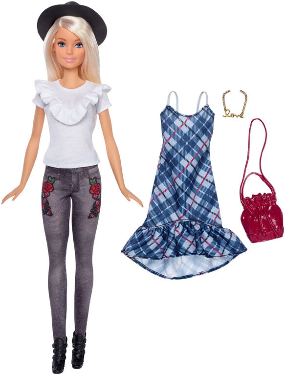 Barbie Fashionistas - Denim Floral Doll