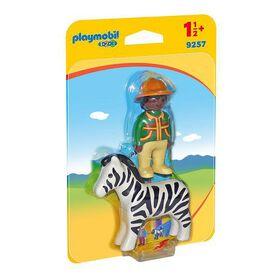 Playmobil 1.2.3. - Ranger with Zebra