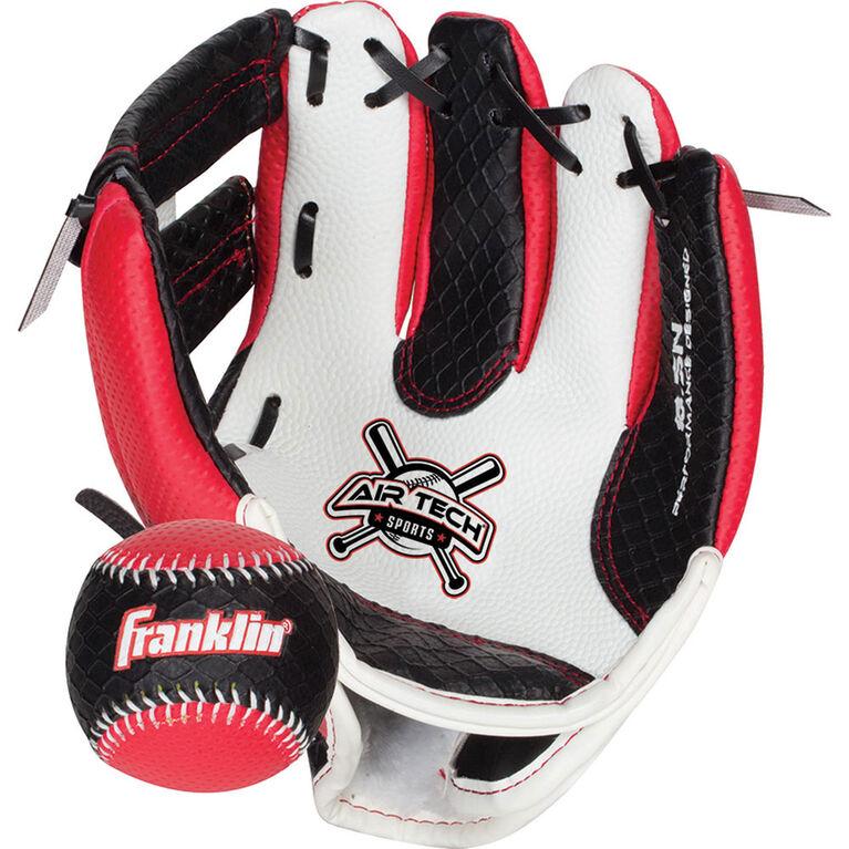 """85"""" Sport Air Tech Glove & Ball Set - Red"""