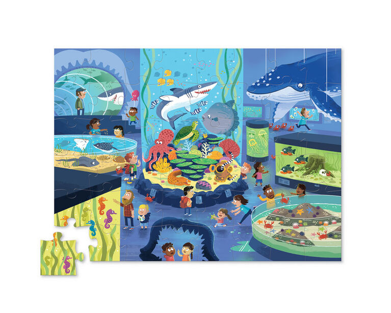 Crocodile Creek - Day at the Museum - Aquarium 48 PC Puzzle