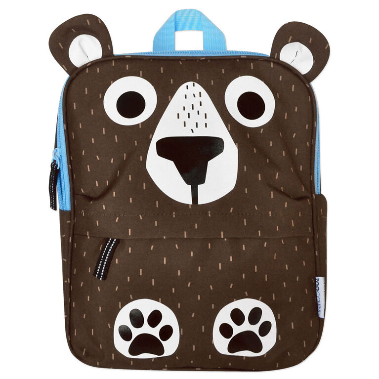 ZOOCCHINI - Toddler, Kids Everyday Square Backpack - Daycare, Nursery, Kindergarten, School Bag - Bosley the Bear
