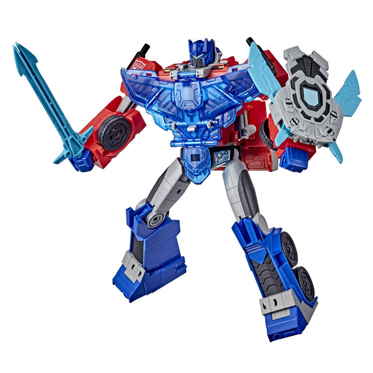 Transformers Bumblebee Cyberverse Adventures Battle Call Officer Class Optimus Prime, Voice Activated Lights and Sounds - English Edition