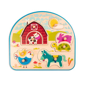 B. Wood Puzzle  Barnyard Animals