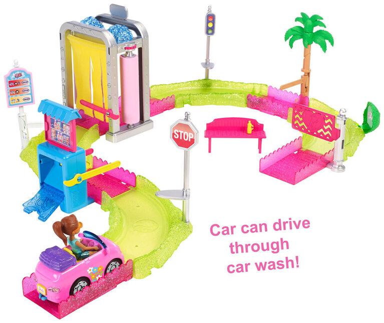 Barbie On The Go Motorized Car Wash Playset